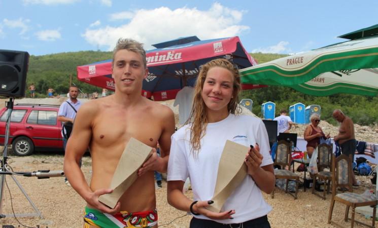 Jelena Ječanski i Tamaš Farkaš najbrži na bilećkom Plivačkom maratonu