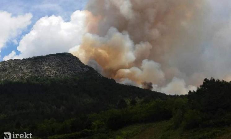 Udar groma izazvao požar kod Klobuka