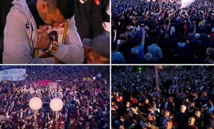 """Uz """"Pravdu za Davida"""" 40.000 ljudi na Trgu Krajine"""