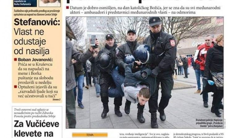 """""""Pravda za Davida"""" sutra u Banjaluci, ali i u Beogradu"""