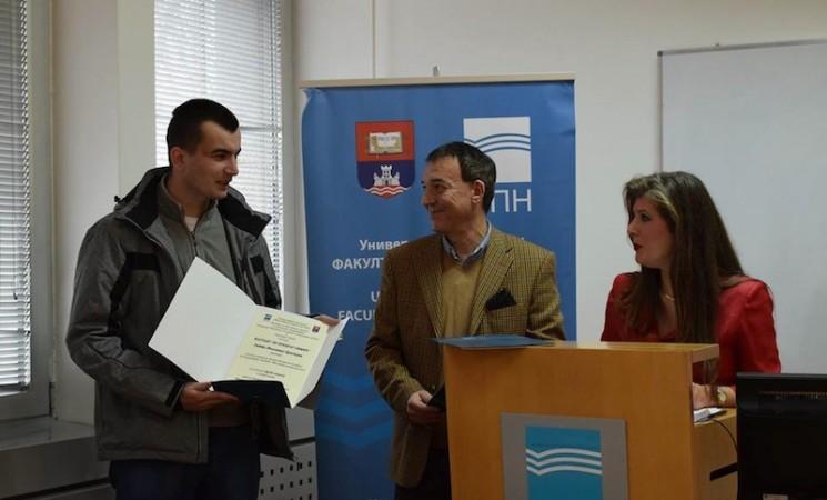 "Student iz Gacka Rade Crnogorac laureat nagrade ""Dr Predrag Simić"""
