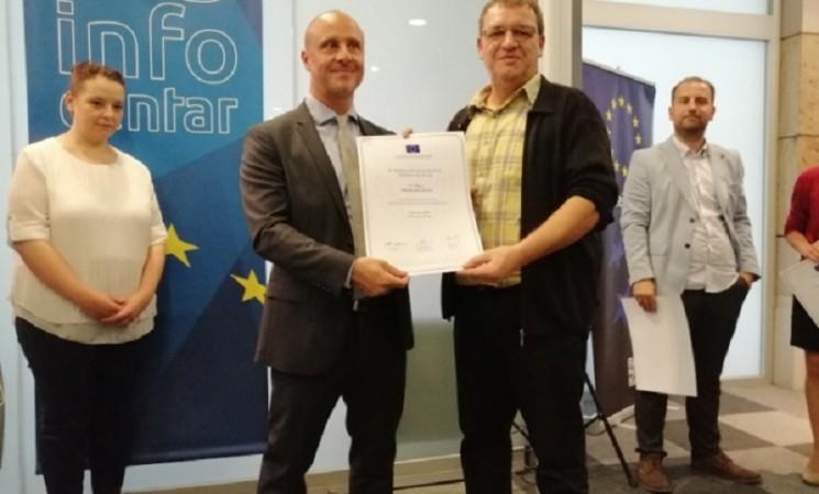Novinaru Žurnala Amarildu Gutiću prva nagrada na konkursu EU za istraživačko novinarstvo