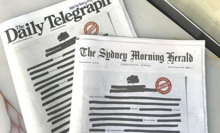 """Australija i mediji: Novine zatamnile naslovne strane protestujući protiv """"tajnosti"""""""