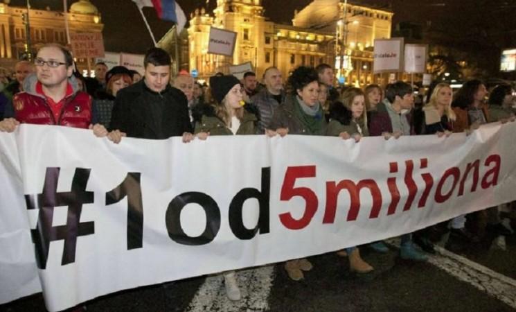 Godišnjica protesta 1 od 5 miliona: Okupljanja su brana od loših poteza vlasti