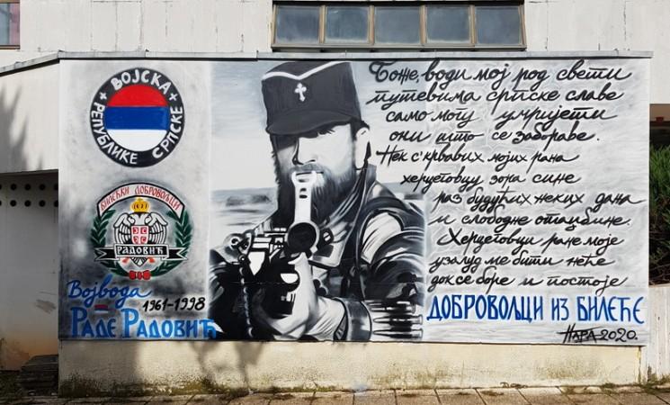 U Bileći naslikan mural posvećen Radu Radoviću