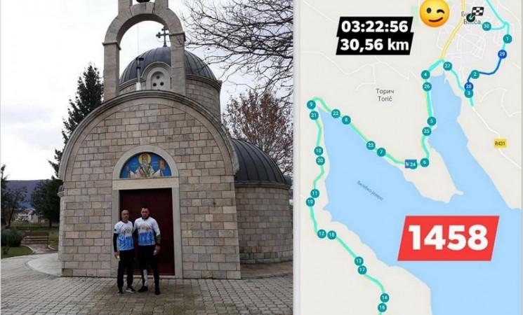 Bilećani Ljubo Trklja i Miljan Kovačević trčali za Marka