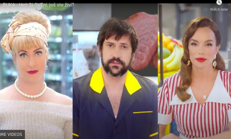 Severina, Hristina Popović i Goran Bogdan u spotu Magazina BUKA – Hejt, SLOVEni, još ste živi?
