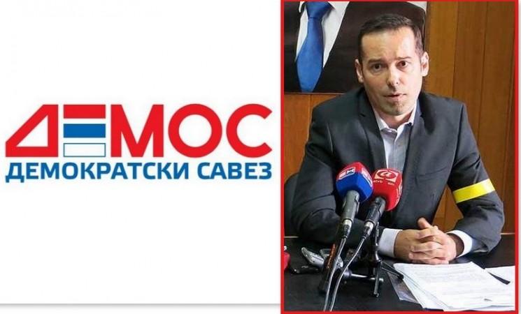 Jovan Milinić dobio državni posao, pa postavljen na čelo trebinjskog DEMOS-a
